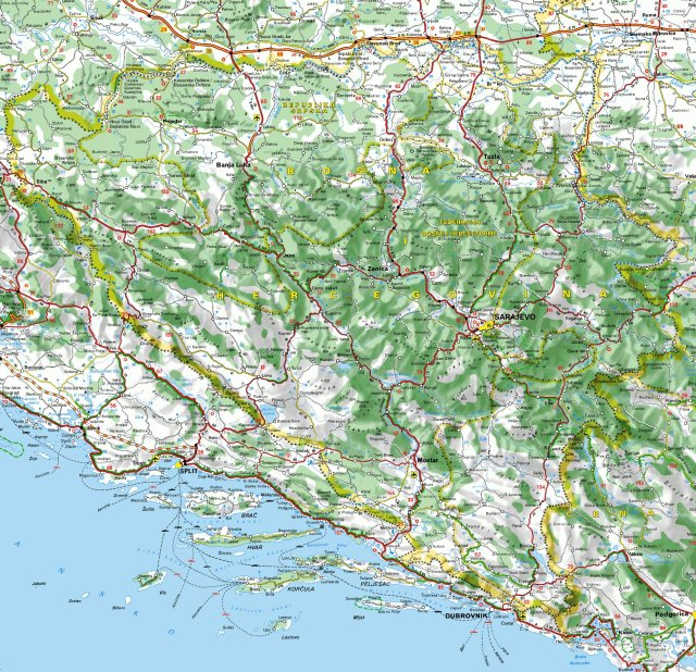 Auto Karta Bosne I Hercegovine Bosna Online